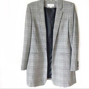 NWOT Calvin Klein • Plaid Longline Blazer 6